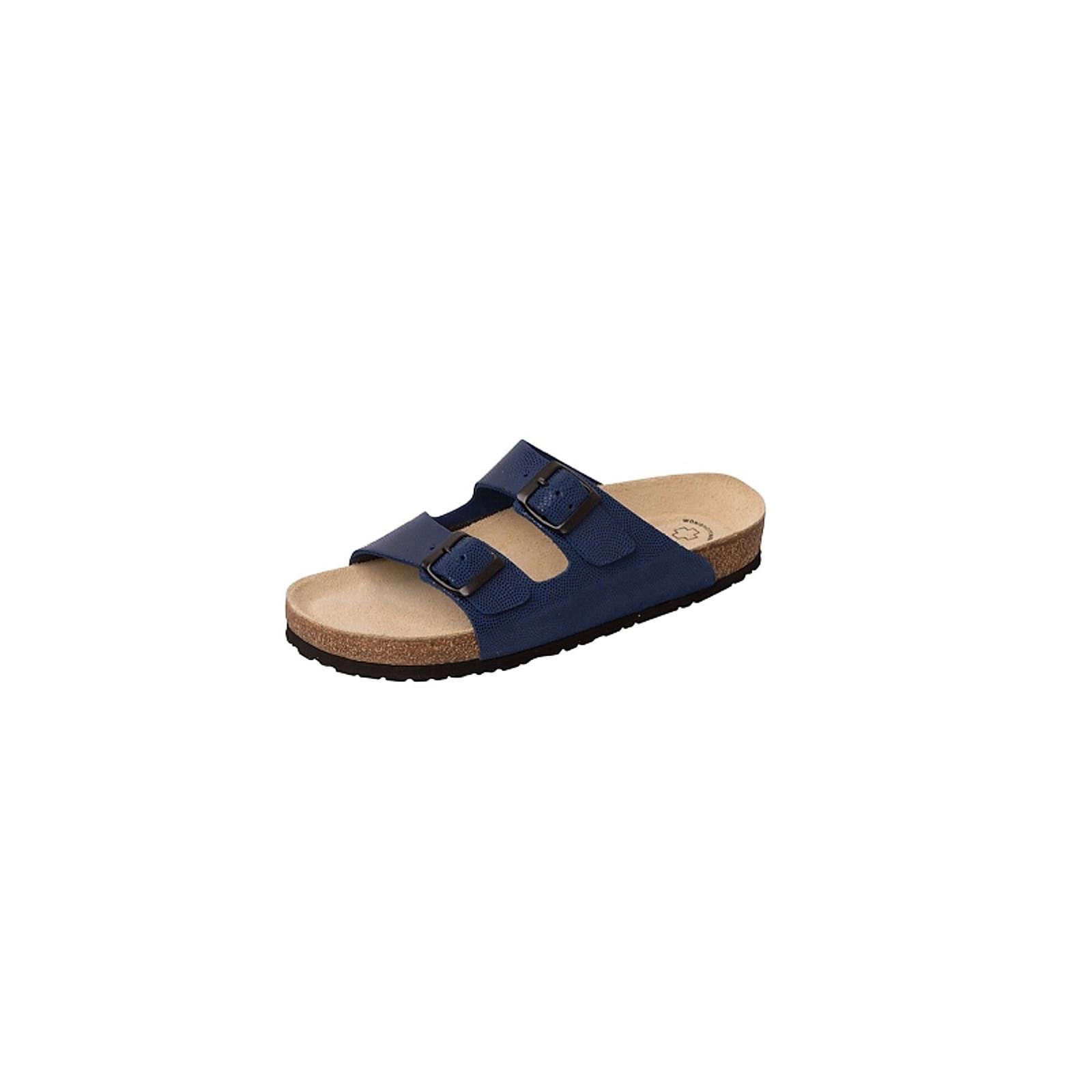 Weeger Komfort-Pantoletten dunkelblau Gr. 35