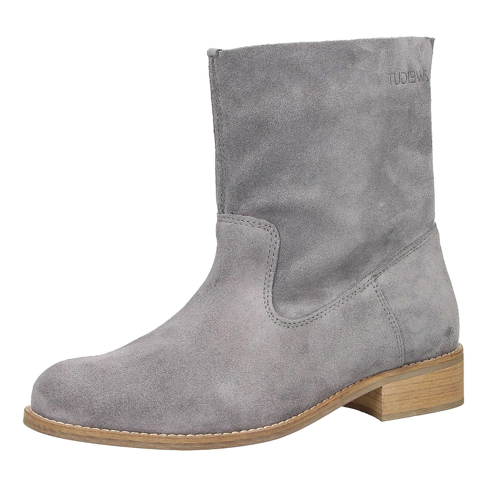 ZWEIGUT® Stiefeletten smuck #210 Damen Leder Stiefel grau Damen Gr. 37